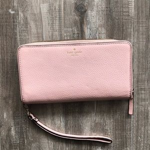 Large blush Kate spade wallet